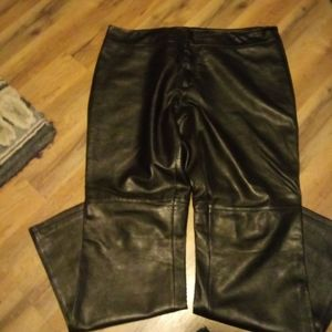 Old navy collection black leather pants